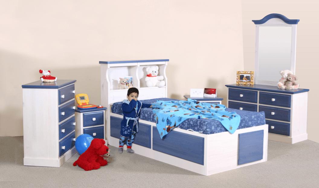 Childrens bedroom furniture pine kids bed room set kids for Kids room set