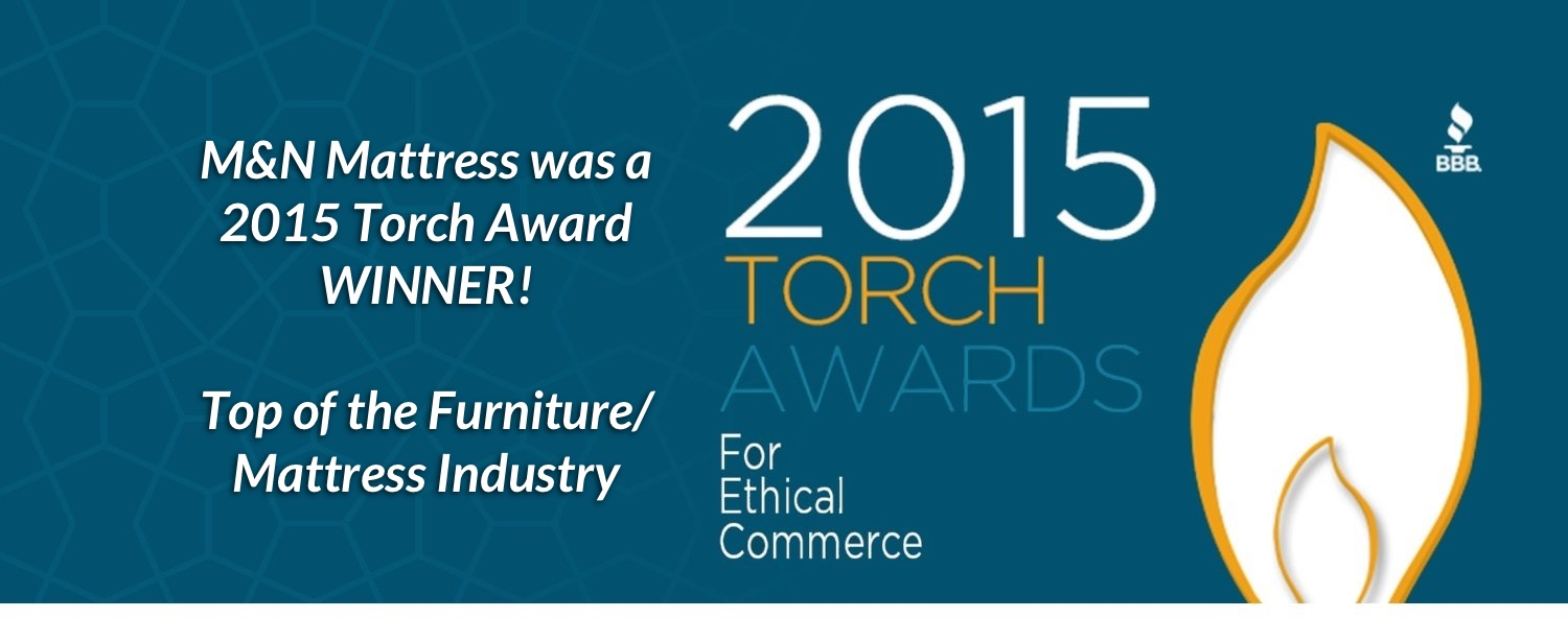 Winner of 2015 Torch Award for Top Mattress store