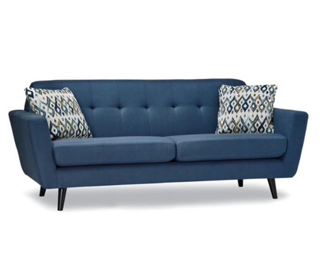 blue long sofa